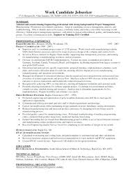 Project Management Objective Resume Senior Project Manager Resume