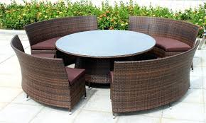 outdoor wicker dining table exquisite round then astounding images chairs