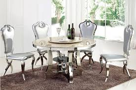 china modern dining table set glass round dining table with rotating centre china dining table dining set