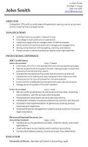 Cpa Resume Sample Accounting Resume Template Writing Sample