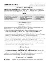 Security Guardume Sample Curriculum Vitae Sia Cv Samples Doc No