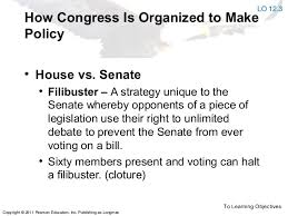 Whether, in other words, to eliminate the modern filibuster, and make governance possible again. Ap Gov T Congress