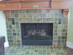 cottage craft tile green fireplace surround arts abd crafts tile
