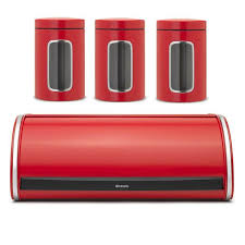brabantia kitchen pack brabantia 484001 passion red roll top bread bin brabantia 484063 passion