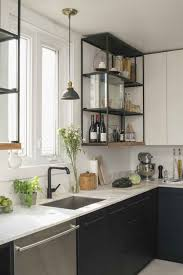 modern kitchen shelves cozy home ikea open upper cabinets