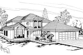 spanish style house plan villa real 11 067 front elevation