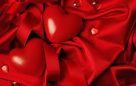 love, heart, romantic, silk ...