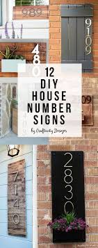 Decorative House Numbers 17 Best Ideas About House Number Signs On Pinterest Diy House