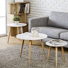 corner living room table. homury coffee table round set of 3 end side wood nesting corner sofa living room