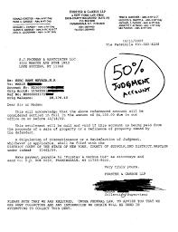 judgment debt settlement letter 50 percent HSBC 001 001