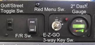 the ac edge alternating current golfcarcatalog com blog the dash gauge toggles between 5 different display functions state of charge total battery volts rpm of motor mph of car and toc this means time the