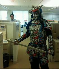 cardboard samurai armor comic cosplay