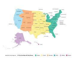 Time Zone Map With Names Time Zone Map U S A Us Local Time
