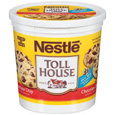 toll house cookie dough