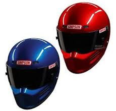 Details About Simpson Super Bandit Helmet Lid Snell Sa2015 Blue Or Red All Sizes Race