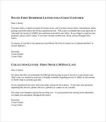 Friendly Collection Letter Template1