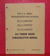 T53 Gas Turbine Engine Manual Vtg 1970 Army Transportation ...