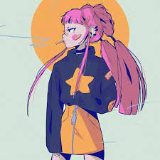 bk56-art-illust-girl-pink-tomboy-wallpaper