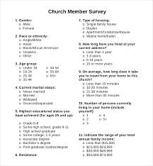 Sample Surveys Questionnaires Sample Survey Form Questions