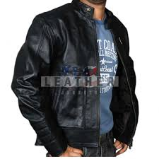 more views genuine leather jacket