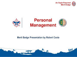 Personal Management Merit Badge Presentation