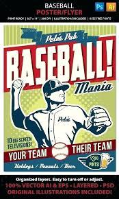 Baseball Fundraiser Flyer Template Templates Softball Word