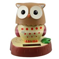 carsida cute 10cm 180degree owl baby tomy shape car bobblehead solar power doll dinodirect com