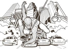 Small Picture Coloring Pages Of Spider Woman And Venom Spiderman Colouring In