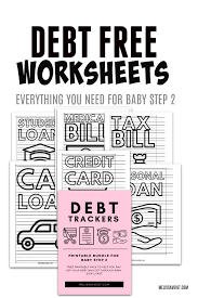 Debt Free Charts Printable Debt Trackers For Baby Step 2 Melissa Voigt