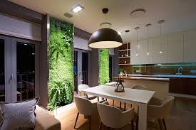 green wall lighting. View In Gallery Living Wall Additions Give Your Home A Dynamic Backdrop Green Lighting