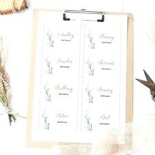 Place Cards Template For Word Wedding Table Name Cards Template