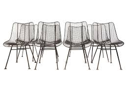 wire mesh dining chairs by woodard at 1stdibs unique picture metal