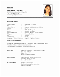 Simple Resume Template Word Template Myenvoc