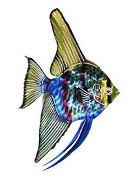 tropical angel fish metal wall art hanging on fish metal wall art hanging with tropical angel fish metal wall art hanging products pinterest