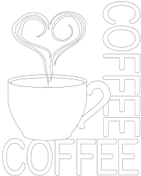 Coffee Coloring Pages Getcoloringpagescom