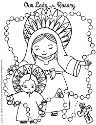 Small Picture Our Lady of the Rosary Coloring page Free printable and Catholic