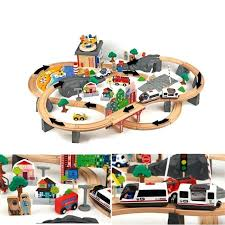 wooden railway set set wooden railway train set train head safety water track toys thomas wooden wooden railway set