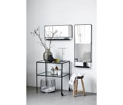 horizontal wall mirror chic with shelfe and black edge house doctor