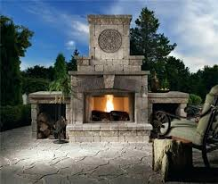 outdoor wood burning fireplace kits ideas stove