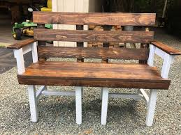furniture made with wood pallets. My First Bench Made Out Of Old Chair Bottoms Nothing Worth Saving Scheme Outdoor Furniture With Wood Pallets .