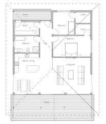 images about Home Plans  Single Story on Pinterest   Small    Two Bedroom Small House Plan   open planning  covered terrace  big bathroom  WIC