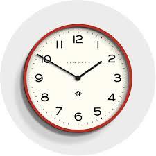 large modern red kitchen wall clock newgate echo number one 149fer homeware