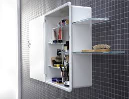 Bathroom: Fascinating White Bathroom Mirror Cabinet And Plastic ...