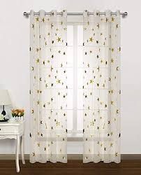 Amazon.com: Gold Star Print Curtains for Nursery Kids Bedroom Cute ...