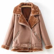 high quality women fur lined coat winter overcoat ruassian winter warm velvet motorcycle fur shearling jacket