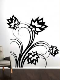 unusual design black wall art flower decals lotus flowers online decor stickers metal canvas uk on black metal flower wall art uk with black wall art arsmart fo