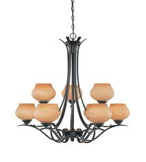 designers fountain moon shadow 9 light chandelier in burnished bronze 82089 bnb
