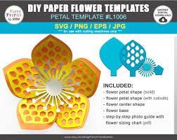 Freesvg.org offers free vector images in svg format with creative commons 0 license (public domain). Cricut Flower Petal Template This Flower Center Will Make Cut Lines All The Way Down The Rectangle Box And Make A Score Line Down The Middle