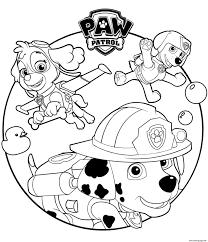 Paw Patrol Coloring Pages Coloringrocks
