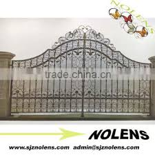 ornamental wrought iron gate and metal driveway design for garden ornate28 gate